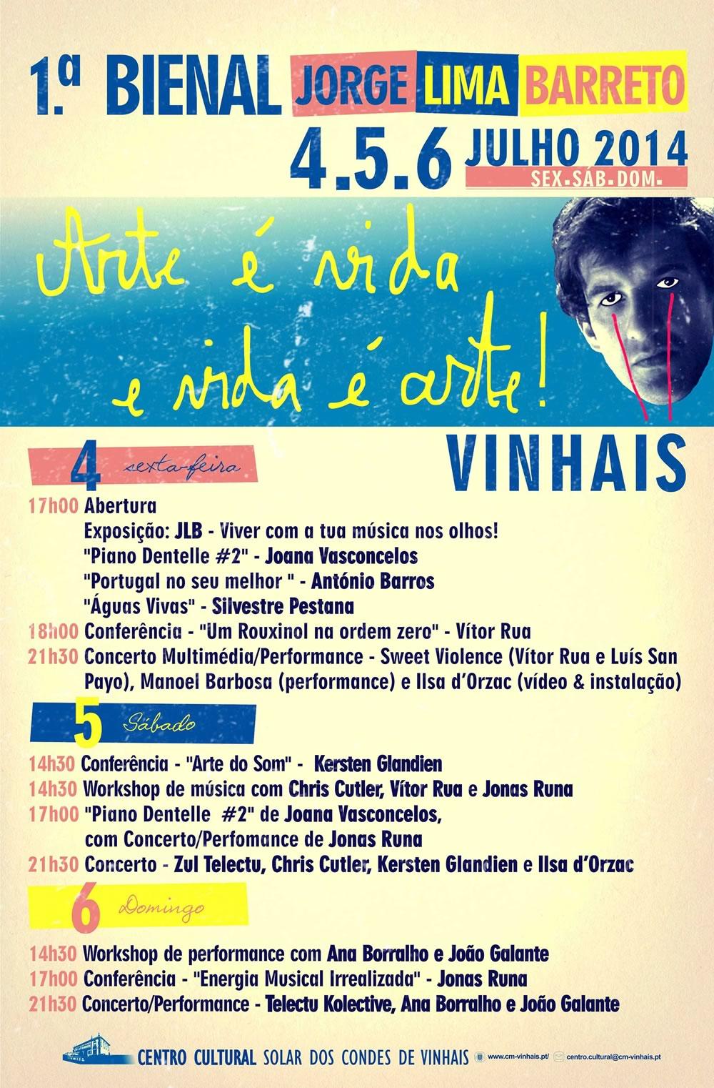 Participe na 1ª Bienal - Jorge Lima Barreto - Vinhais